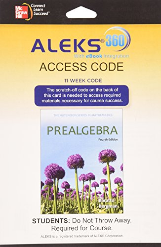9780077894696: ALEKS 360 Access Card (11 weeks) for Prealgebra