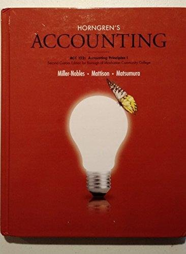 9780077895570: ACC 121-122 Accounting Principles Arapahoe Community College Volume 1