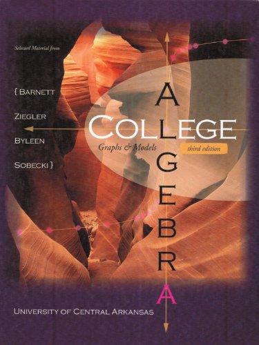 9780077916435: College Algebra UCA Edition w/ Mathzone