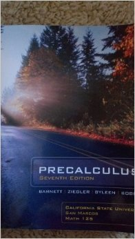 9780077921743: Pre Calculus 7th California State University San Marcos Math 125 Code Included!!