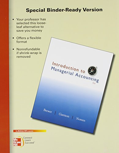 9780077924447: Loose Leaf Version of Introduction to Managerial Accounting with Connect Access Card