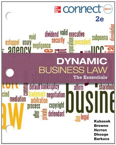 9780077924577: Loose Leaf Version of Dynamic Business Law: The Essentials with Connect Access Card