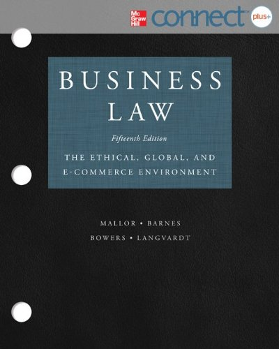 9780077924591: Loose-Leaf Version of Business Law with Connect Access Card