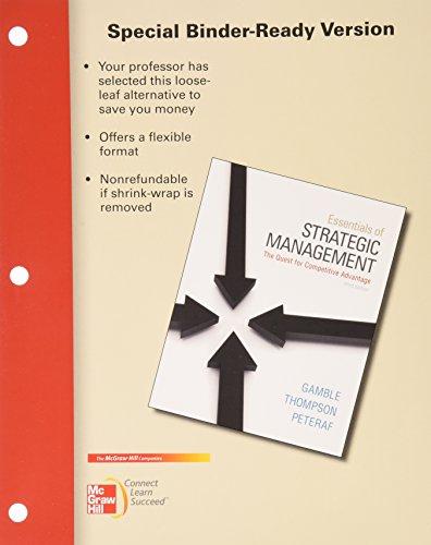 9780077925116: Loose Leaf Essentials of Strategic Management with Connect Plus