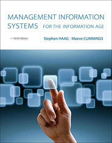 Management Information Systems with Connect Access Card: Haag, Stephen; Cummings,