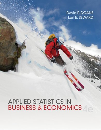 Loose Leaf Applied Statistics in Business and: David Doane, Lori