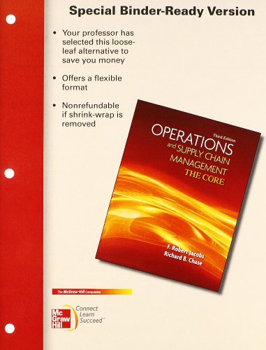 9780077925505: Loose Leaf Operations & Supply Chain Management: The Core with Connect Access Card