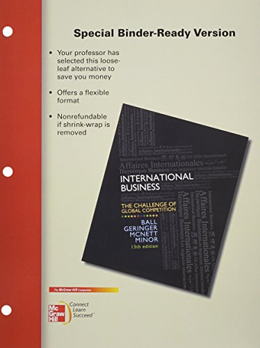 9780077926328: MP Loose Leaf International Business with Connect Plus