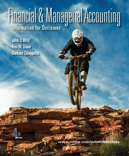 Loose-Leaf Financial & Managerial Accounting with Connect: Wild, John, Chiappetta,