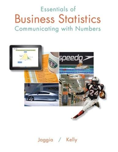 9780078020544: Essentials of Business Statistics: Communicating With Numbers