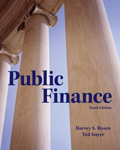 Public Finance (The Mcgraw-Hill Series in Economics): Rosen, Harvey, Gayer,