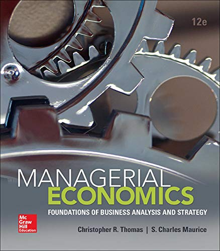 9780078021909: Managerial Economics: Foundations of Business Analysis and Strategy (The Mcgraw-Hill Economics Series)
