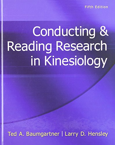 9780078022555: Conducting & Reading Research In Kinesiology