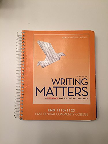 9780078022791: Writing Matters (College English)