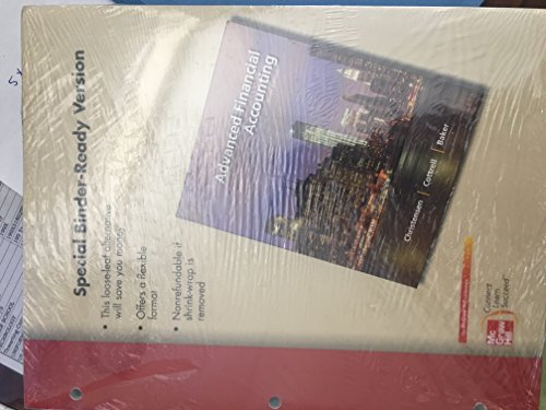 9780078023729: Loose Leaf Direct Advanced Finanical Accounting 10e