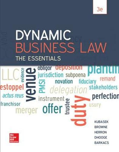 9780078023842: Dynamic Business Law: The Essentials, 3dr Edition (Irwin Business Law)