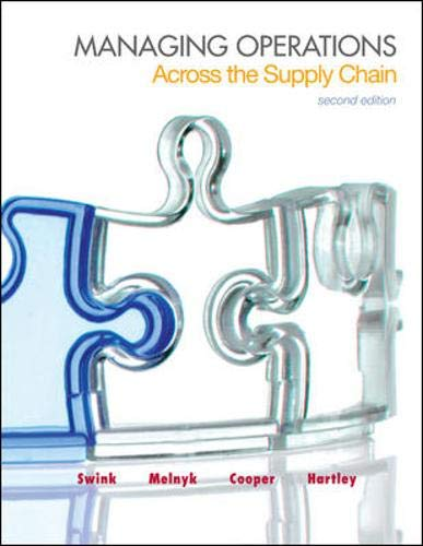 9780078024030: Managing Operations Across the Supply Chain (McGraw-Hill/Irwin Series in Operations and Decision Sciences)