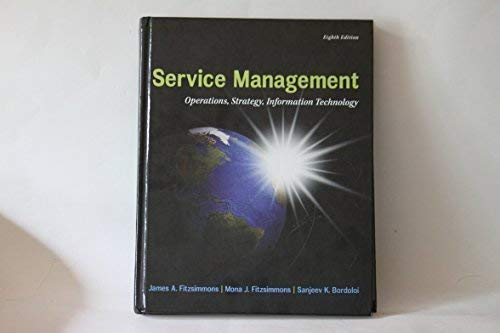 Service Management Operations, Strategy, Information Technology: Fitzsimmons, James A.