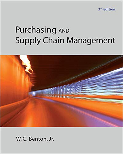 Purchasing and Supply Chain Management: Benton, W.C.