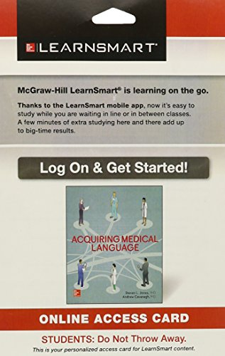 9780078024153: LearnSmart Standalone Access Card for Acquiring Medical Language