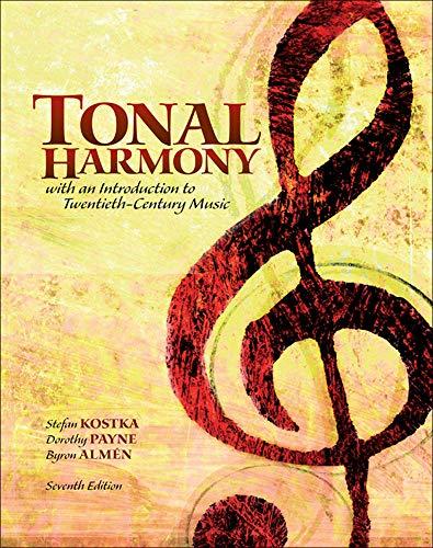 9780078025143: Tonal Harmony (B&B Music)