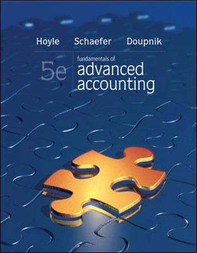 Fundamentals Of Advanced Accounting: Schaefer, Thomas F.;