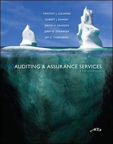 9780078025440: Auditing & Assurance Services, 5th Edition