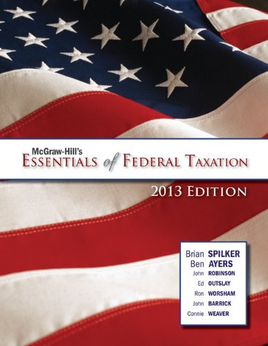 9780078025785: McGraw-Hill's Essentials of Federal Taxation, 2013 Edition