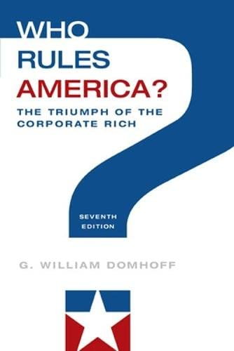 9780078026713: Who Rules America?: The Triumph of the Corporate Rich