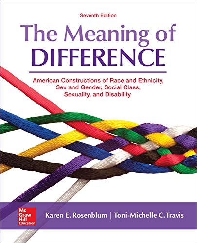 9780078027024: The Meaning of Difference: American Constructions of Race and Ethnicity, Sex and Gender, Social Class, Sexuality, and Disability