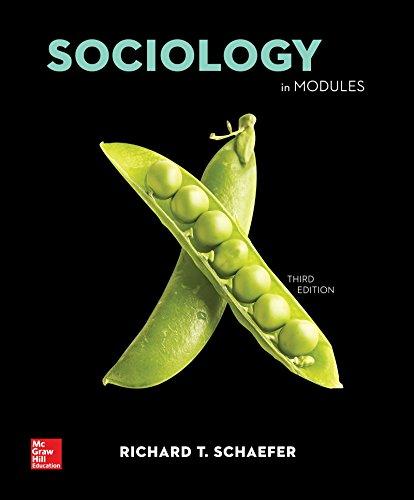 Sociology in Modules Loose Leaf: Schaefer, Richard T.