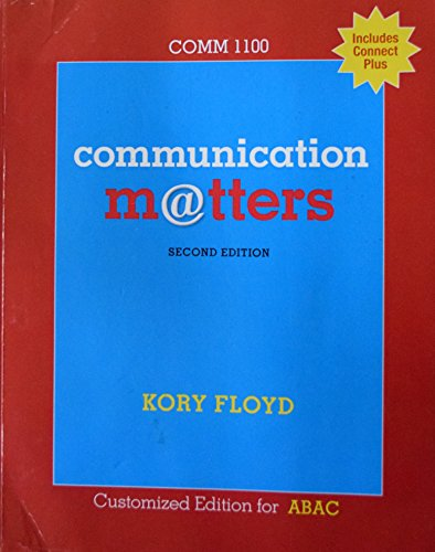 9780078027239: Communication Matters 2nd Edition