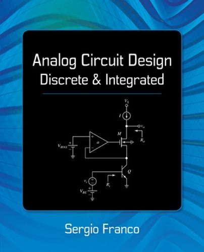 9780078028199: Analog Circuit Design: Discrete & Integrated