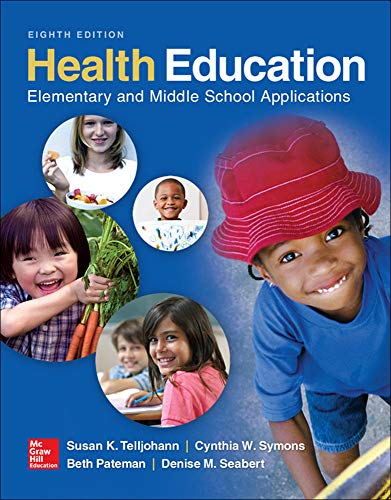 9780078028564: Health Education: Elementary and Middle School Applications