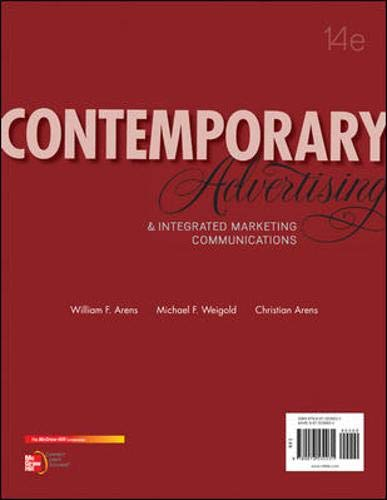 9780078028953: Contemporary Advertising and Integrated Marketing Communications, 14th Edition