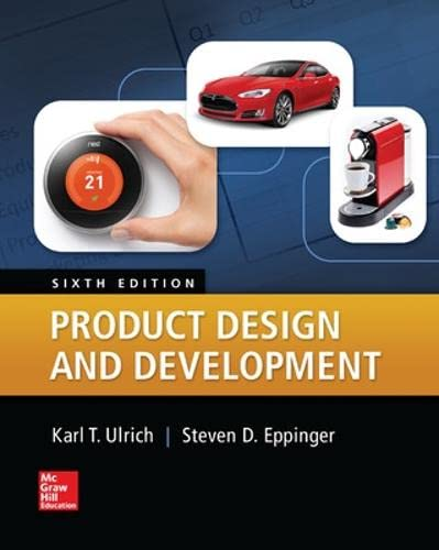 Product Design And Development: Ulrich, Karl; Eppinger,