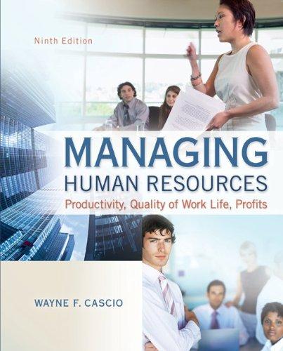 9780078029172: Managing Human Resources