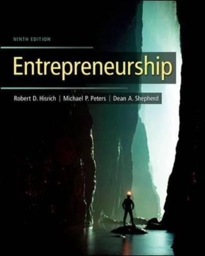 Entrepreneurship: Michael P. Peters;