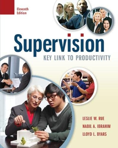Supervision: Key Link to Productivity: Rue, Leslie W.;