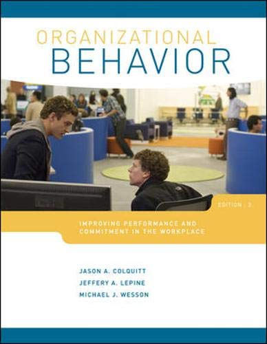 9780078029356: Organizational Behavior: Improving Performance and Commitment in the Workplace