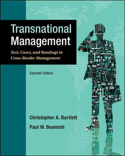 9780078029394: Transnational Management: Text, Cases & Readings in Cross-Border Management (Asia Higher Education Business & Economics Management and Organization)