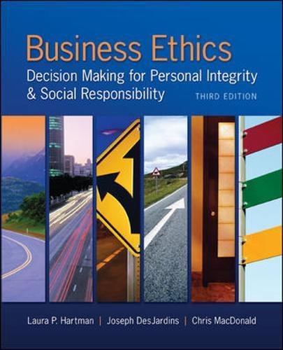 9780078029455: Business Ethics: Decision Making for Personal Integrity & Social Responsibility