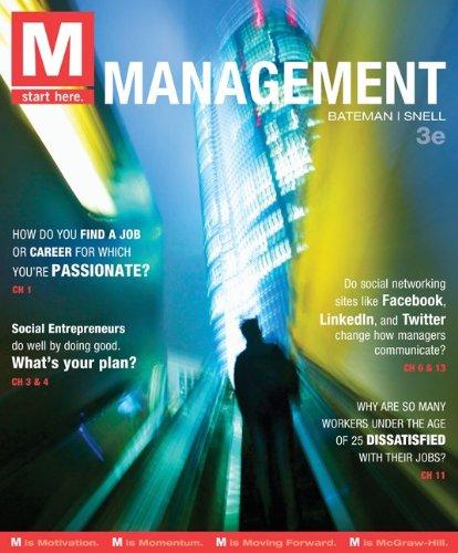 M: Management, 3rd Edition: Bateman, Thomas; Snell,