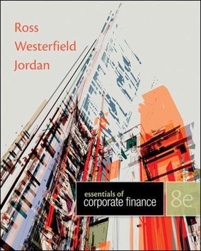 Essentials of Corporate Finance: Jordan, Bradford, Westerfield,