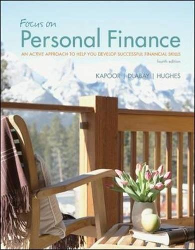 9780078034787: Focus on Personal Finance: An Active Approach to Help You Develop Successful Financial Skills (McGraw-Hill/Irwin Series in Finance, Insurance and Real Esta)