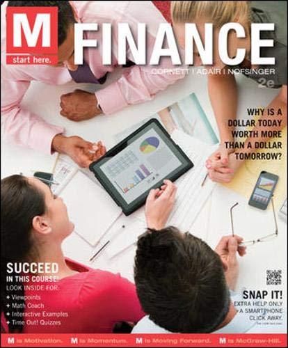 M: Finance (Paperback): Marcia Millon Cornett,