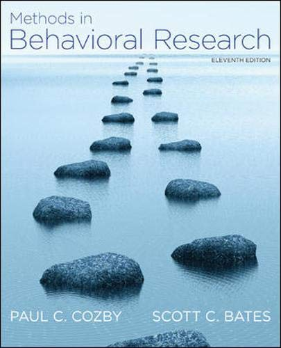 9780078035159: Methods in Behavioral Research