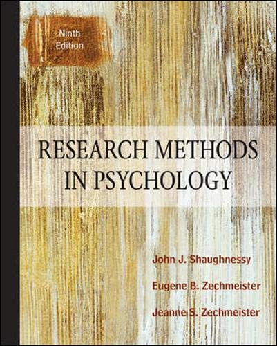 9780078035180: Research Methods In Psychology