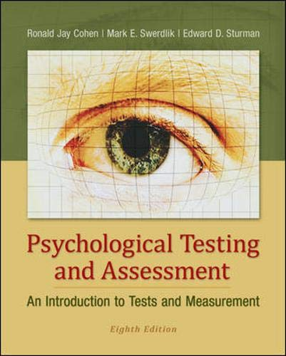 9780078035302: Psychological Testing and Assessment: An Introduction to Tests and Measurement
