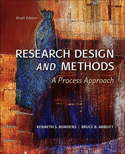 9780078035456: Research Design and Methods: A Process Approach (B&B Psychology)